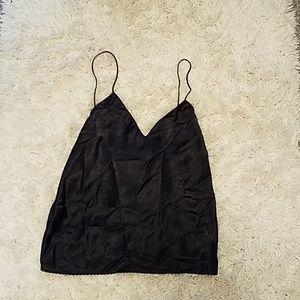 Black v-neck tank top